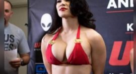 Kako li se bori s ovolikim grudima? Svi su gledali u bradavice najprsatije UFC lepotice pred borbu! (FOTO) (VIDEO)