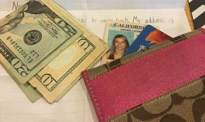 Dječak joj poslao novčanik na kućnu adresu